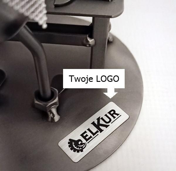 Metalowa figurka na prezent z logo firmy