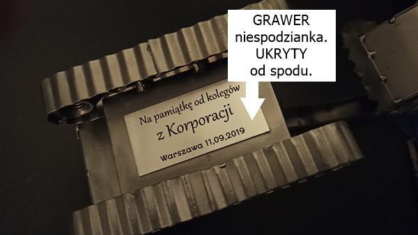 Prezent z grawerem dla operatora koparki polskie rękodzieło